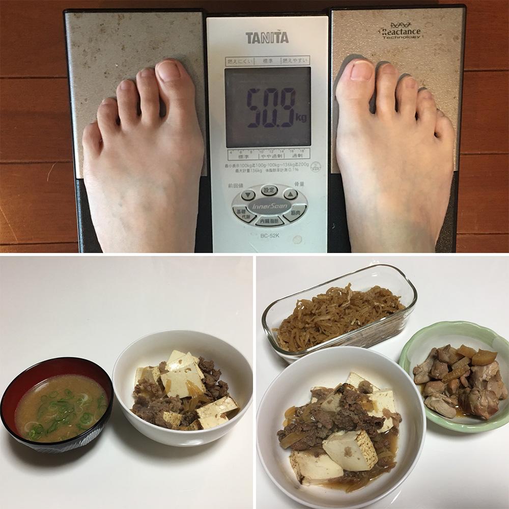 平成29年12月27日(水)今朝の体重と昨日のご飯