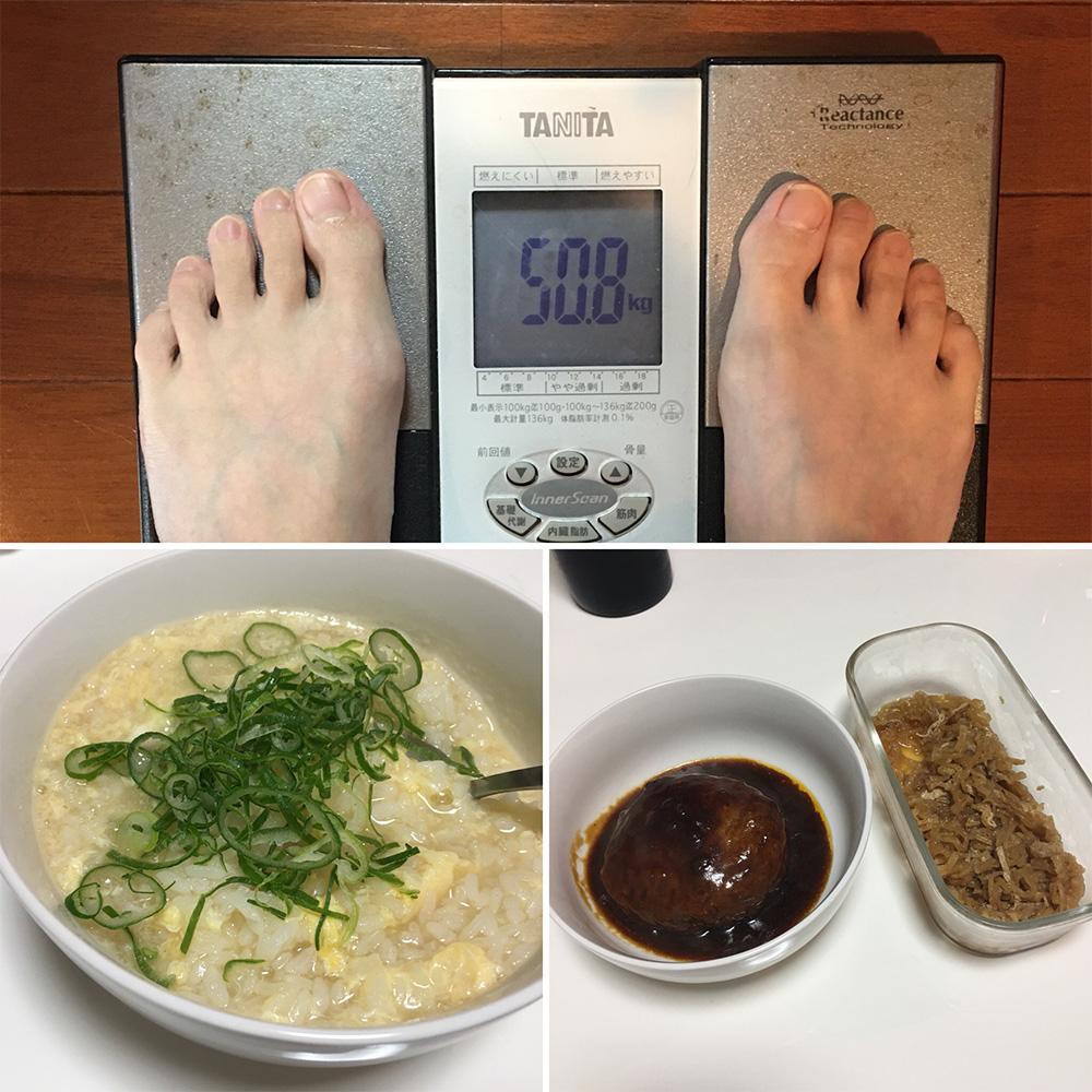 平成29年12月29日(金)今朝の体重と昨日のご飯