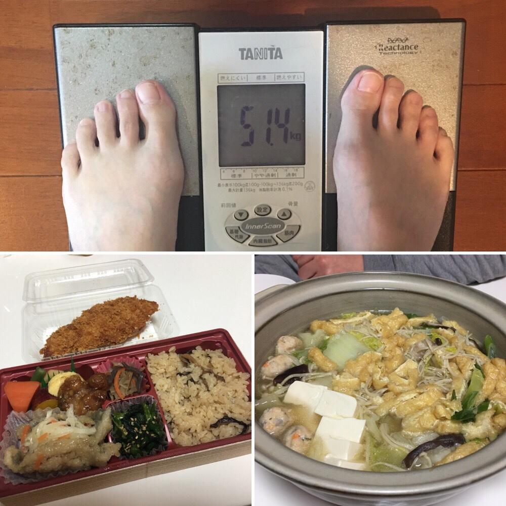 平成29年12月14日(木)今朝の体重と昨日のご飯