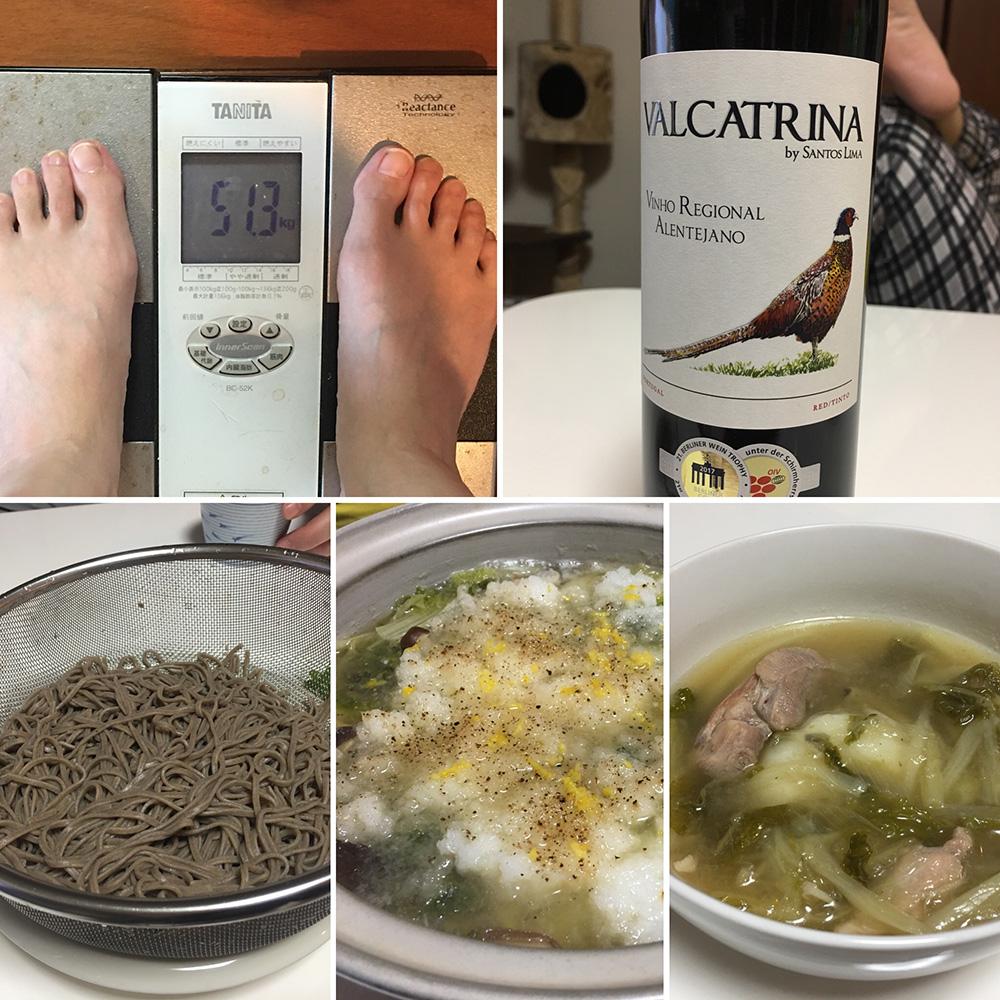 平成30年1月2日(火)今朝の体重と昨日のご飯