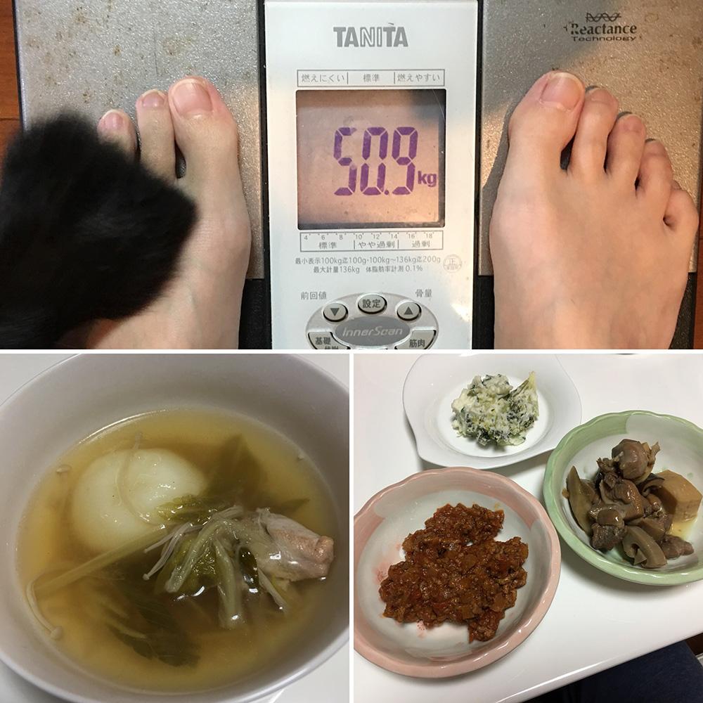 平成30年1月4日(木)今朝の体重と昨日のご飯