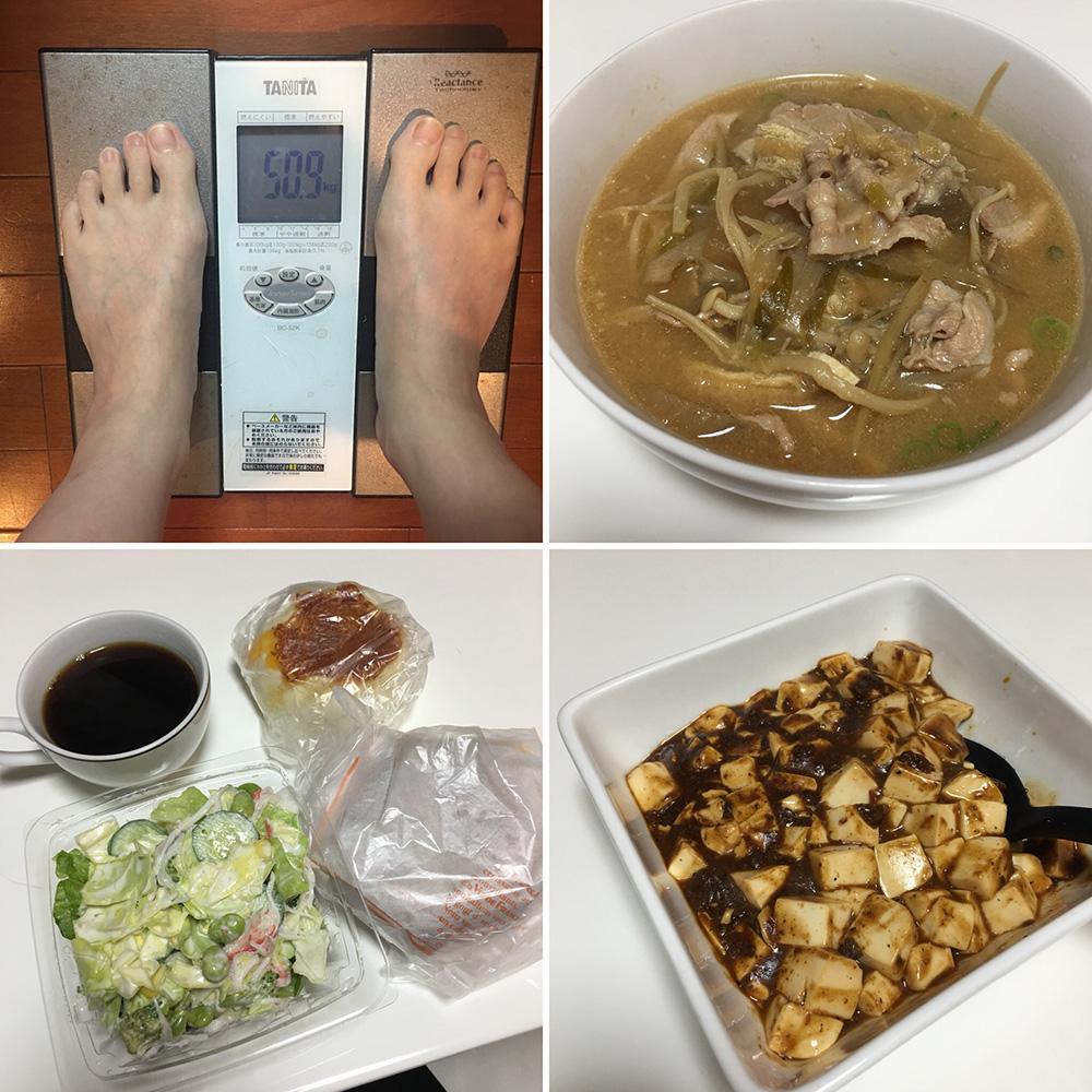 平成30年1月6日(土)今朝の体重と昨日のご飯
