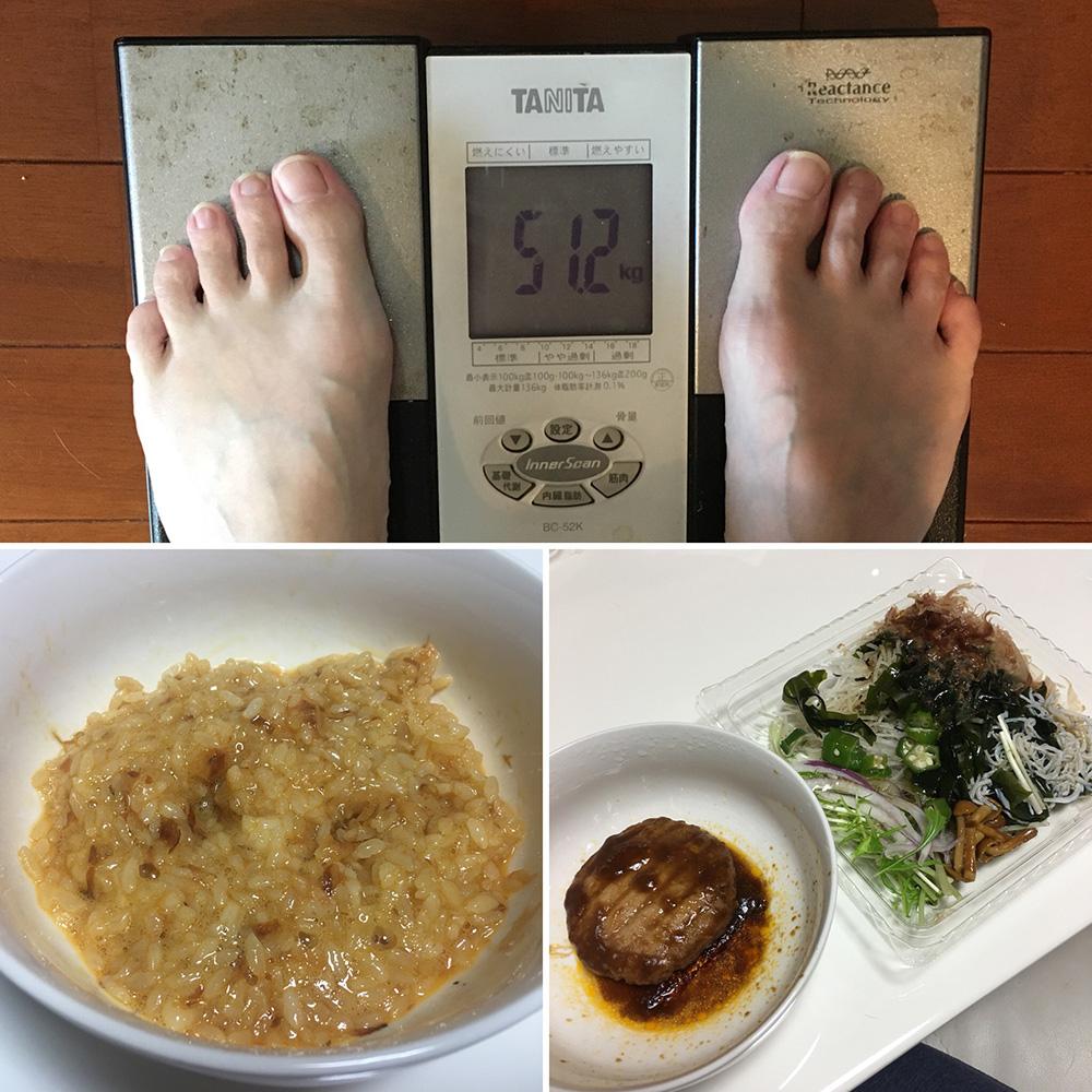 平成30年1月12日(金)今朝の体重と昨日のご飯
