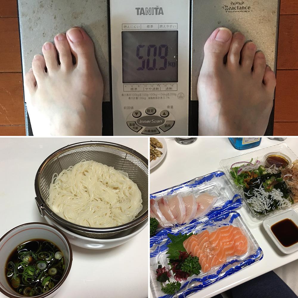 平成30年1月15日(月)今朝の体重と昨日のご飯