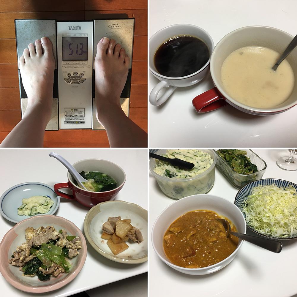 平成30年1月16日(火)今朝の体重と昨日のご飯