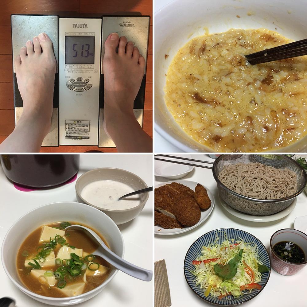 平成30年1月17日(水)今朝の体重と昨日のご飯