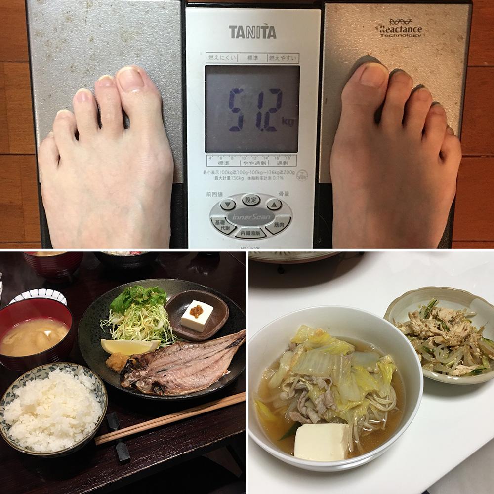 平成30年1月19日(金)今朝の体重と昨日のご飯
