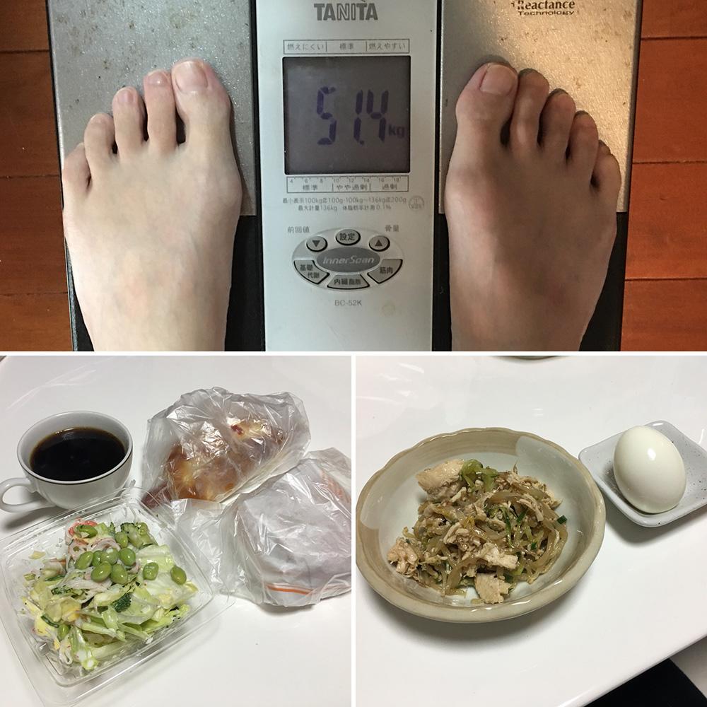 平成30年1月20日(木)今朝の体重と昨日のご飯