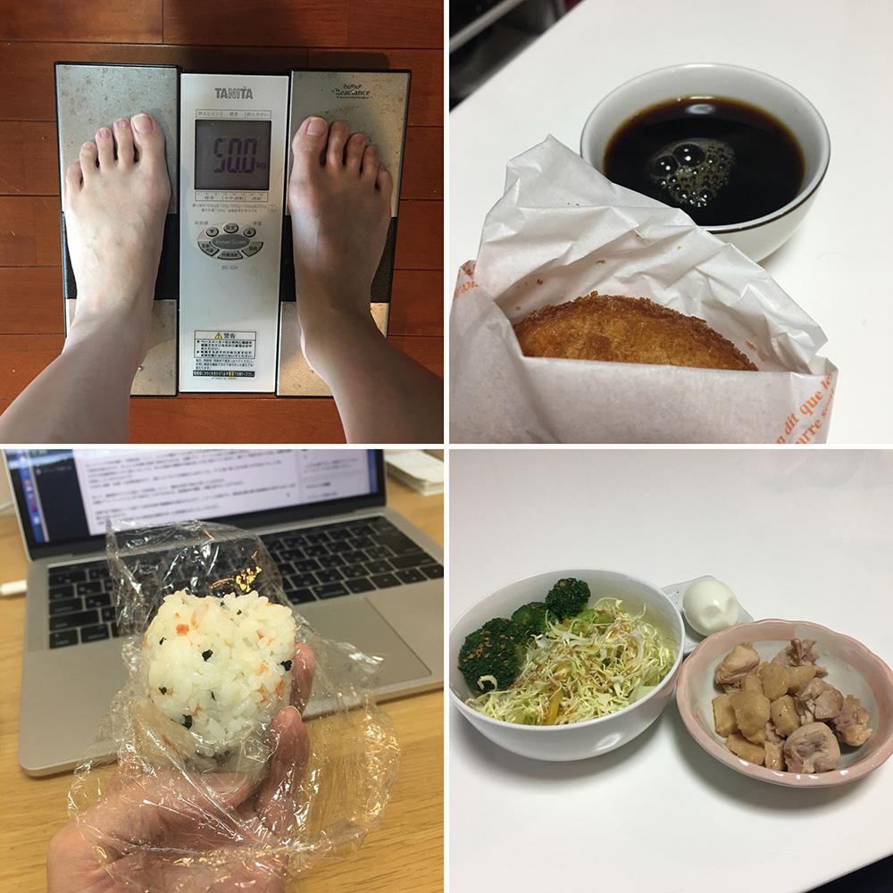 平成30年1月31日(水)今朝の体重と昨日のご飯
