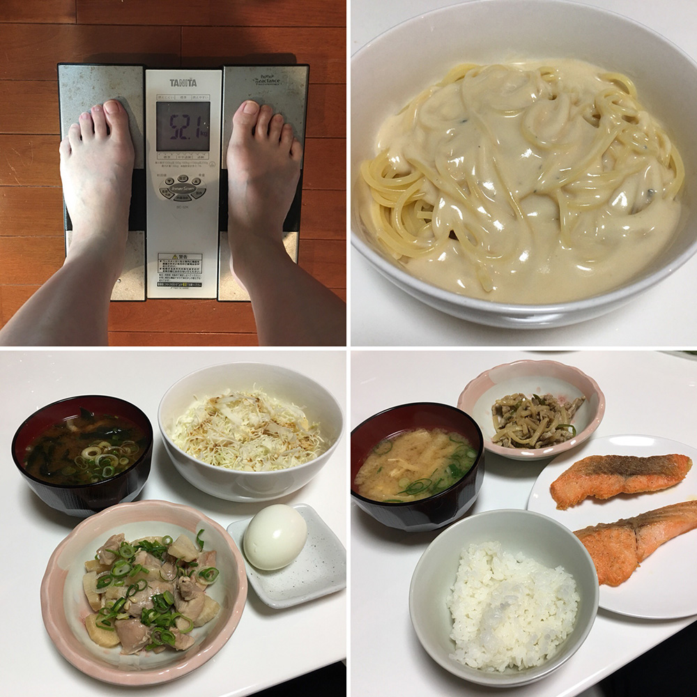 平成30年2月3日(土)今朝の体重と昨日のご飯