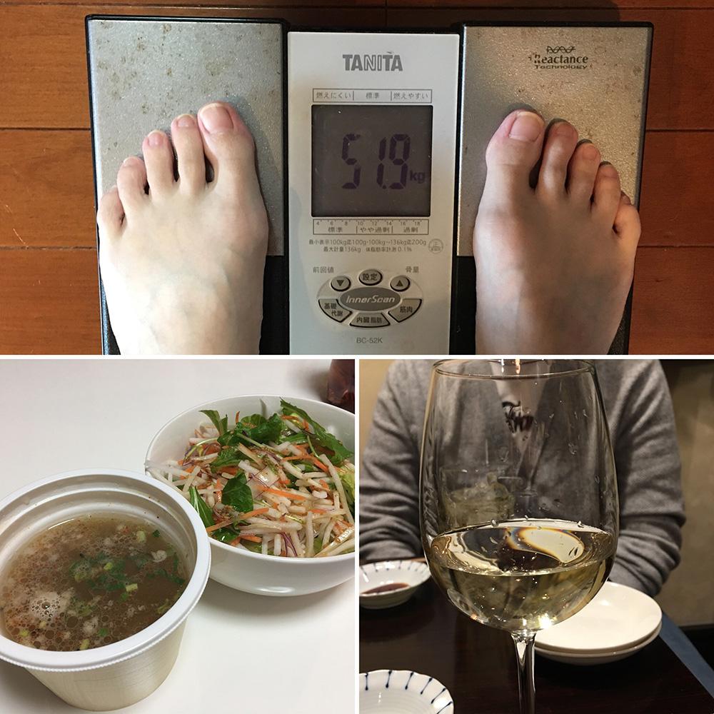 平成30年2月5日(月)今朝の体重と昨日のご飯