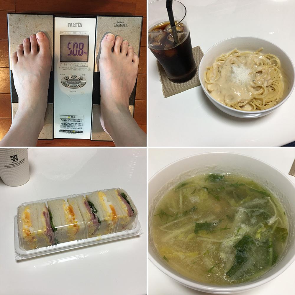 平成30年2月9日(金)今朝の体重と昨日のご飯