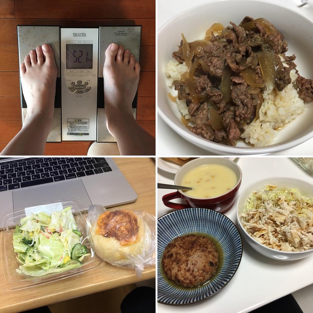 平成30年2月17日(土)今朝の体重と昨日のご飯