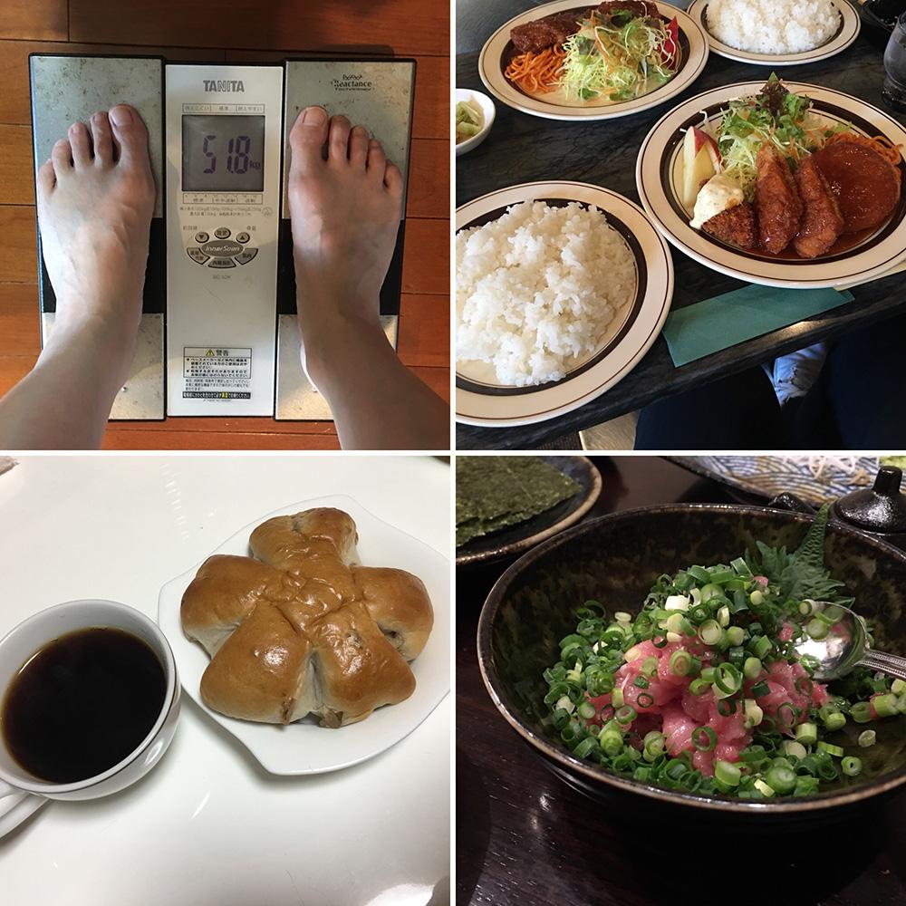 平成30年2月18日(日)今朝の体重と昨日のご飯