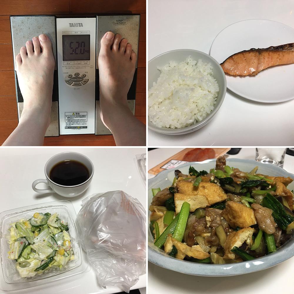 平成30年2月24日(土)今朝の体重と昨日のご飯