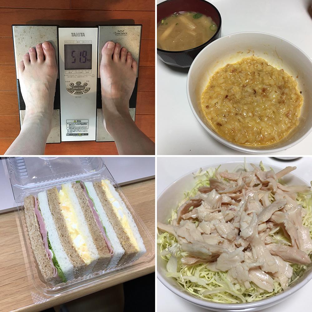 平成30年2月28日(水)今朝の体重と昨日のご飯