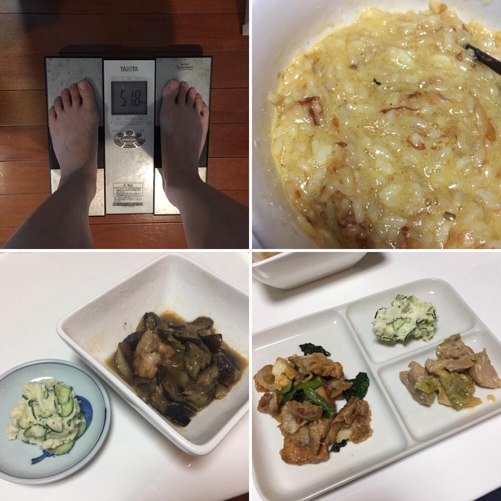 平成30年3月8日(木)今朝の体重と昨日のご飯