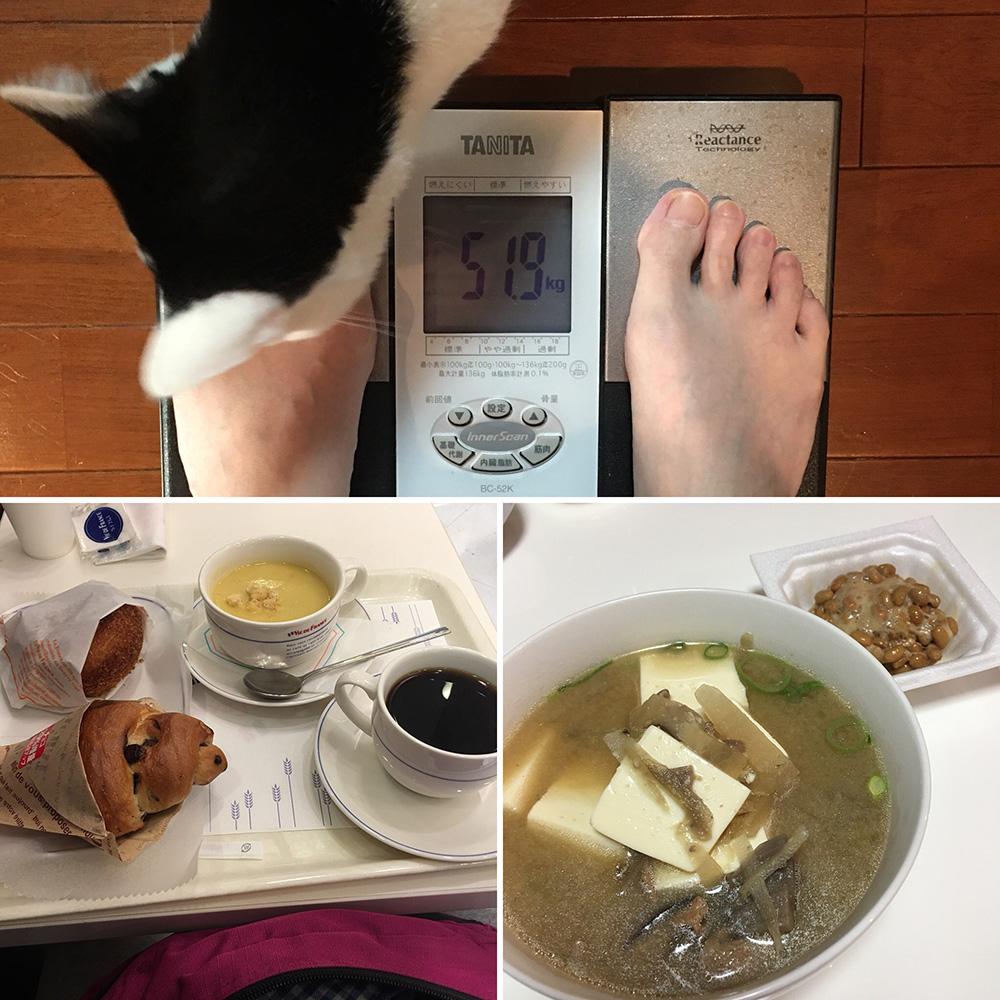 平成30年4月1日(日)今朝の体重と昨日のご飯