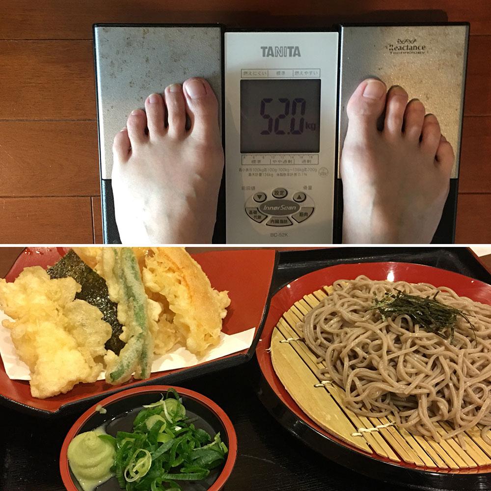 平成30年4月2日(月)今朝の体重と昨日のご飯
