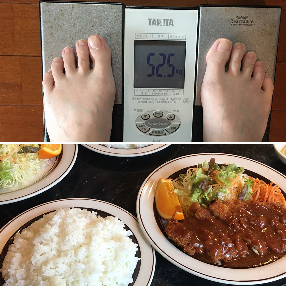 平成30年4月4日(水)今朝の体重と昨日のご飯