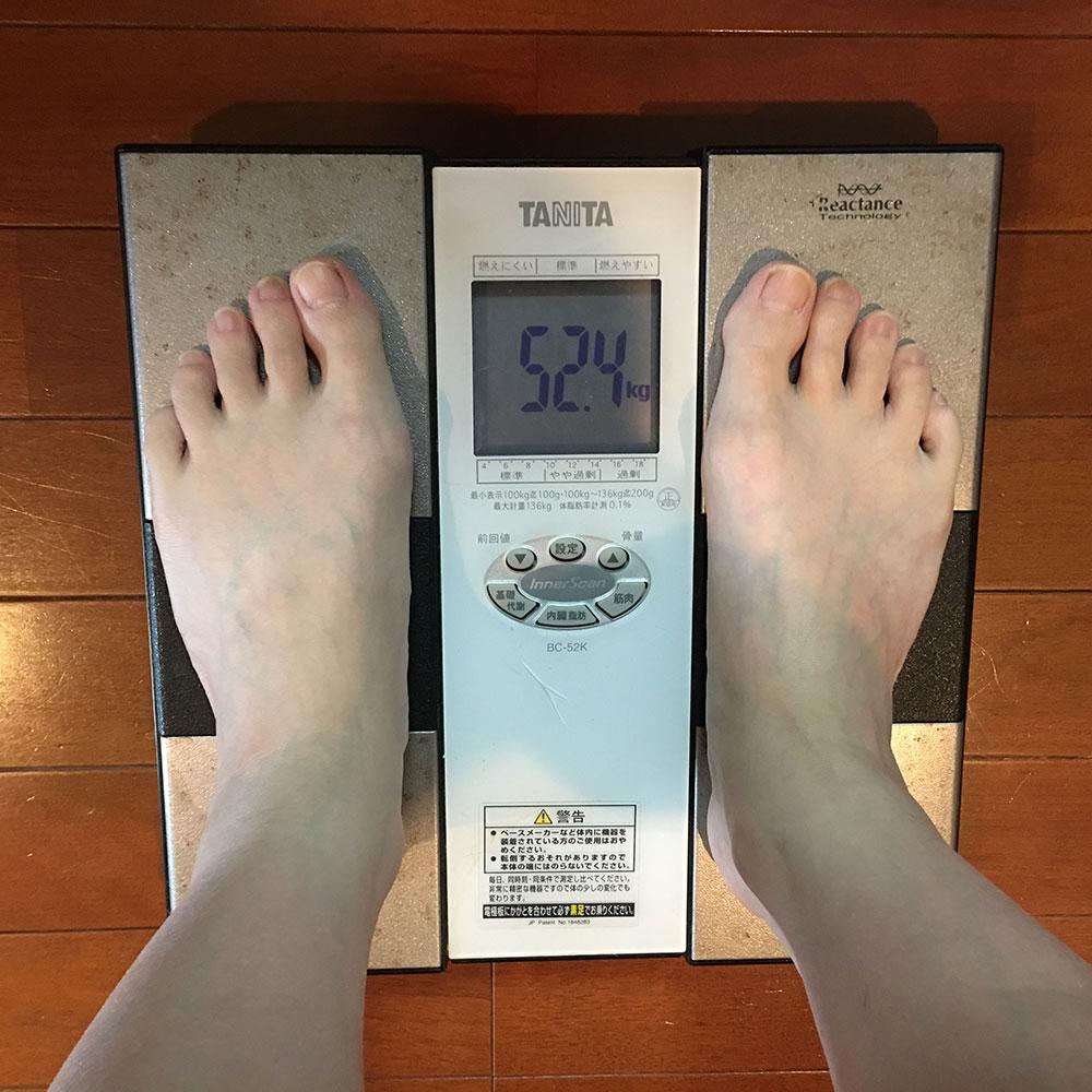 平成30年4月9日(月)今朝の体重と昨日のご飯