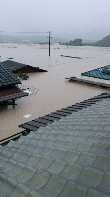 倉敷市真備町 氾濫