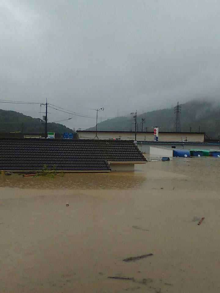 真備町水害状況