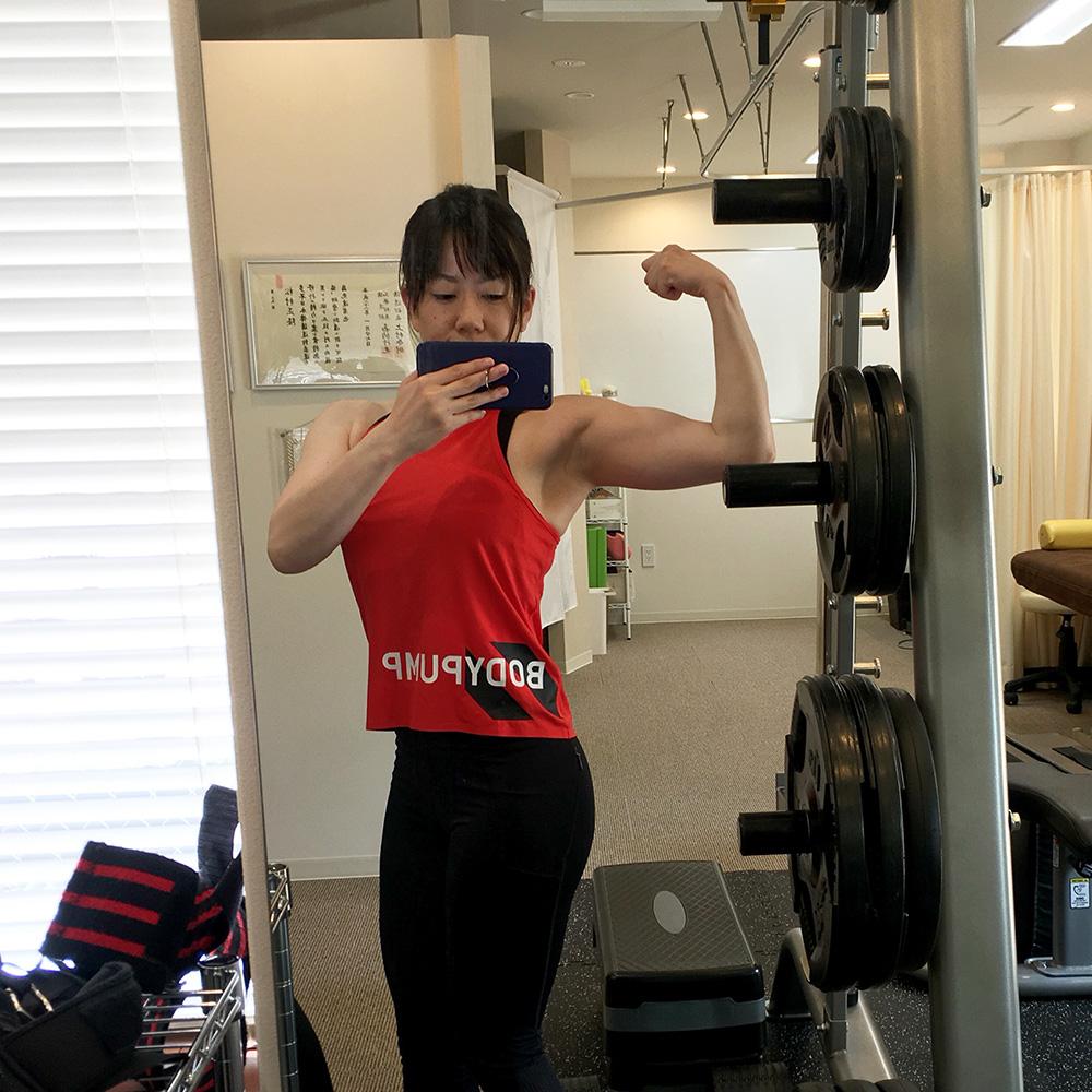腕、肩、胸のトレーニング